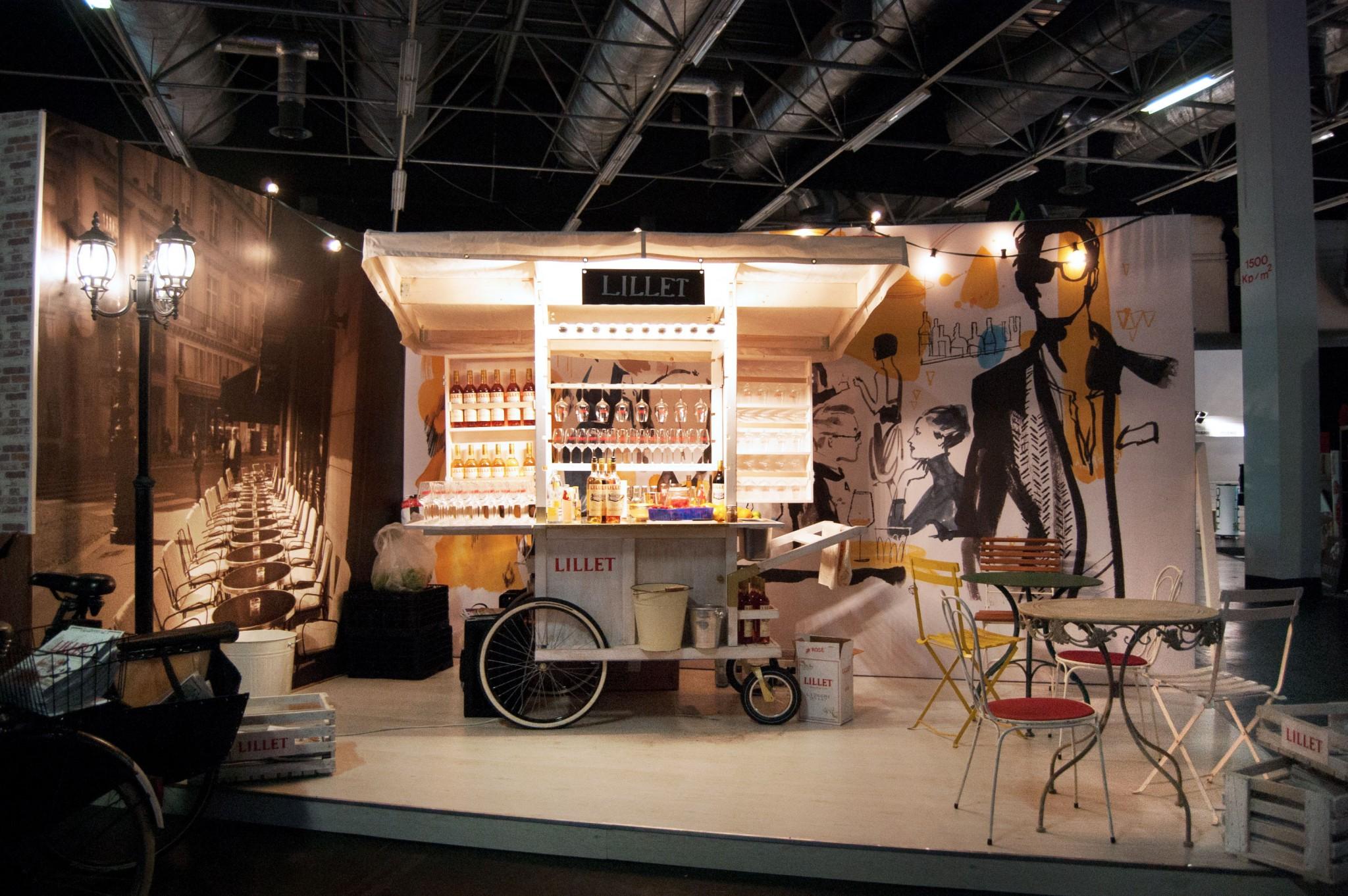 Lillet Stand Barconvent 2012 Design Stil Manipulation