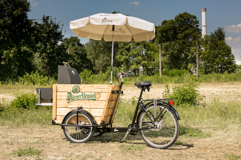 Pilsner Urquell Barbecue Bike Design Stil Manipulation 2014