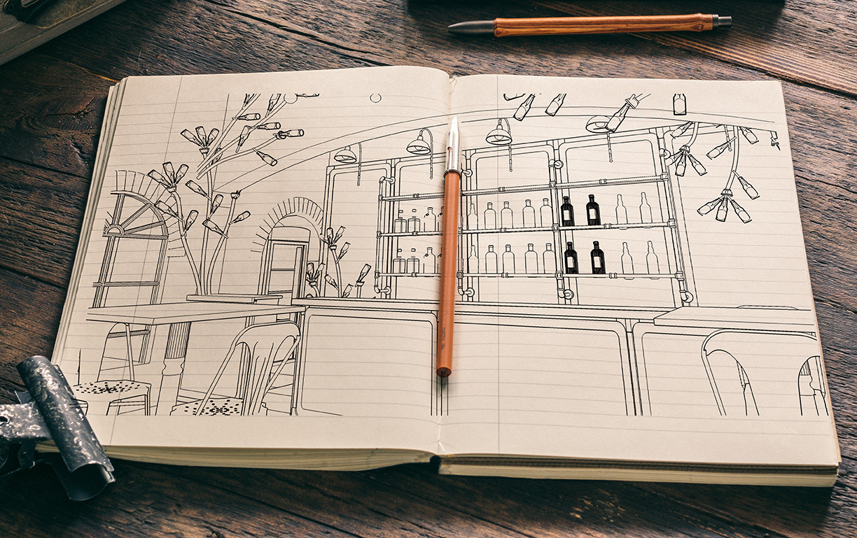 StilManipulation Heineken Garden Sketch