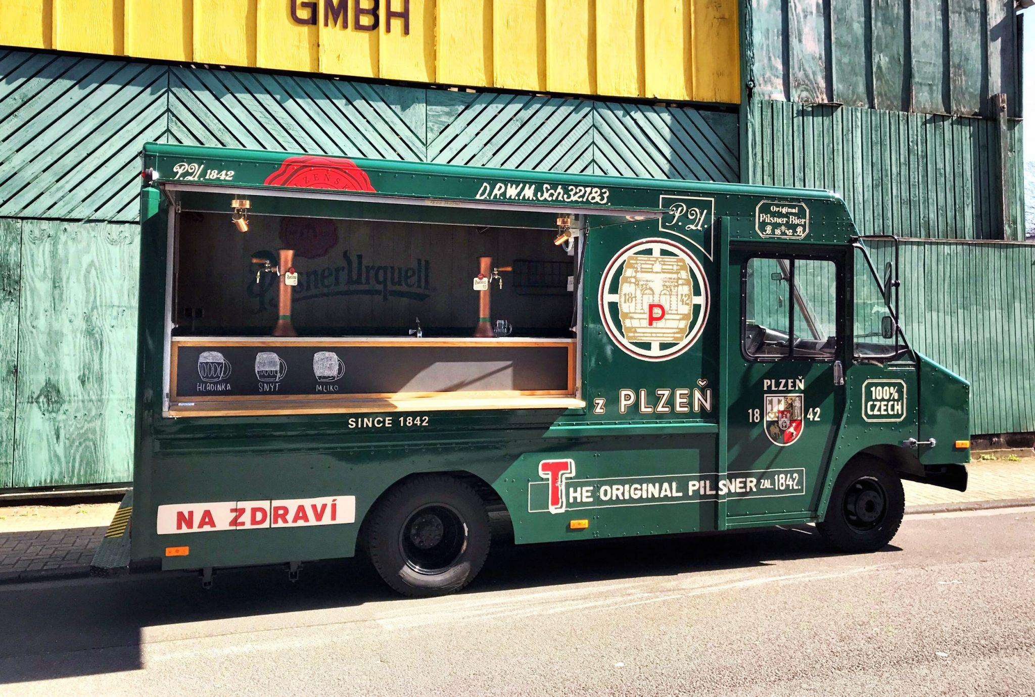Pilsner Urquell Truck 2018, Design Stil Manipulation 2018,Food Truck,Bar Truck,Truck Design