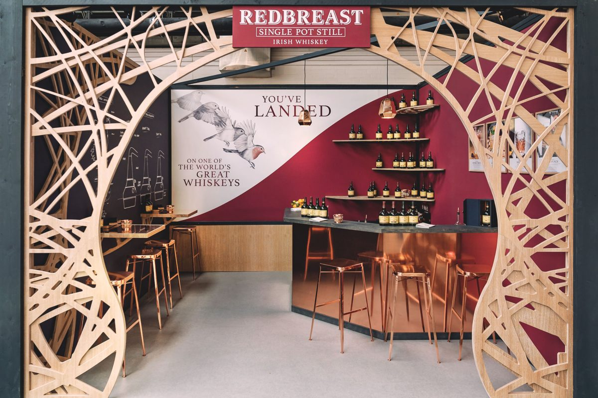 RedBreast BCB 2018, Design Stil Manipulation 2018, Bar Convent, Messestand Design